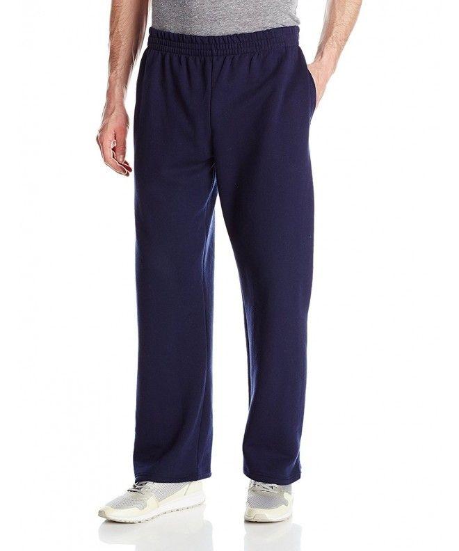 Men S Pocketed Open Bottom Sweatpant Navy Cw1207ybdbp Fleece Sweatpants Mens Outfits Sweatpants