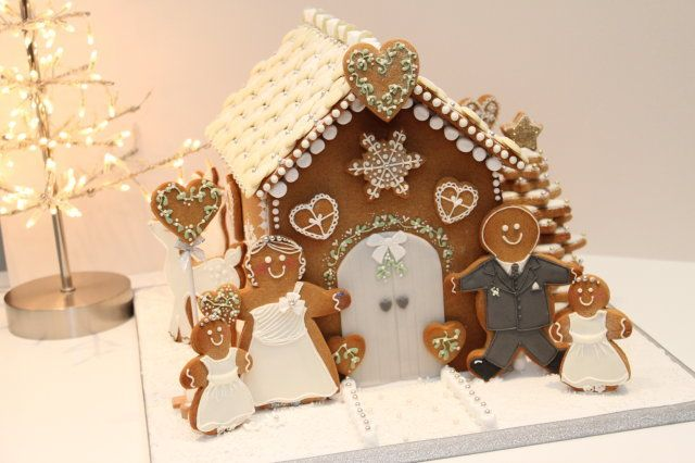 Wedding Gingerbread House - by Lolli's cake boutique @ CakesDecor.com - cake decorating website