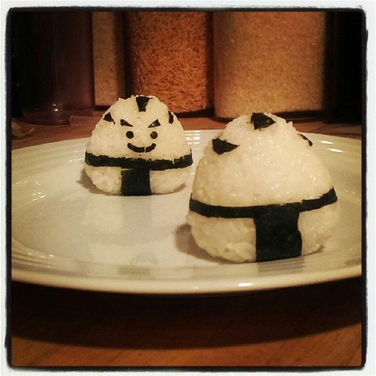 Sumo Panda Onigiri (Rice Balls) #kawaii #cute #Japanesefood