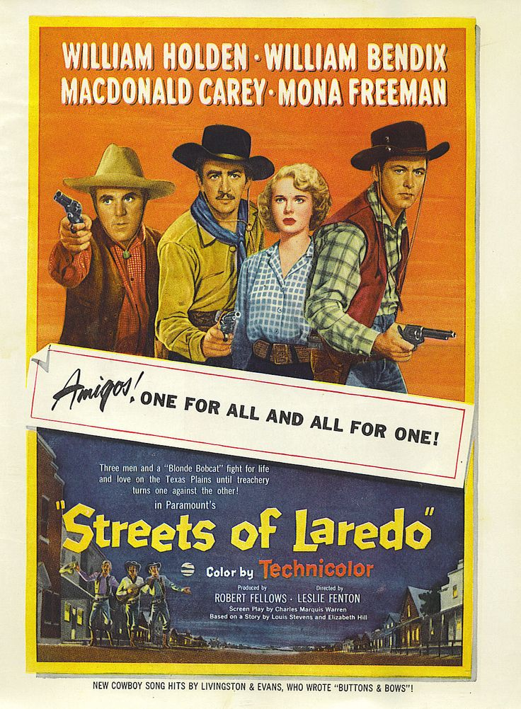 STREETS OF LAREDO (1949) - William Holden - William Bendix ...