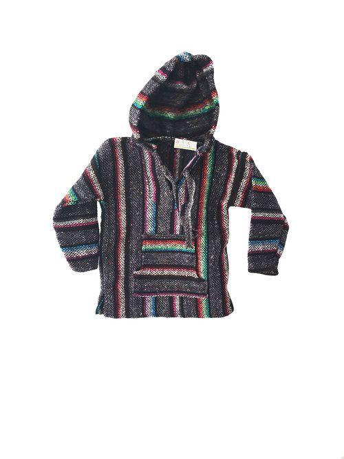 Kids Mexican Baja Jumper / Sweater - Grey
