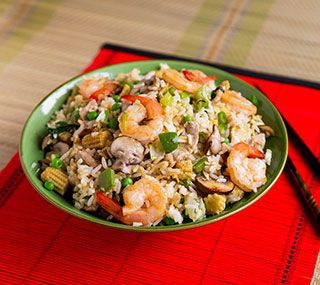 House Special Fried Rice:   Have all the ingredients prepared before cooking this fast-frying dish.
