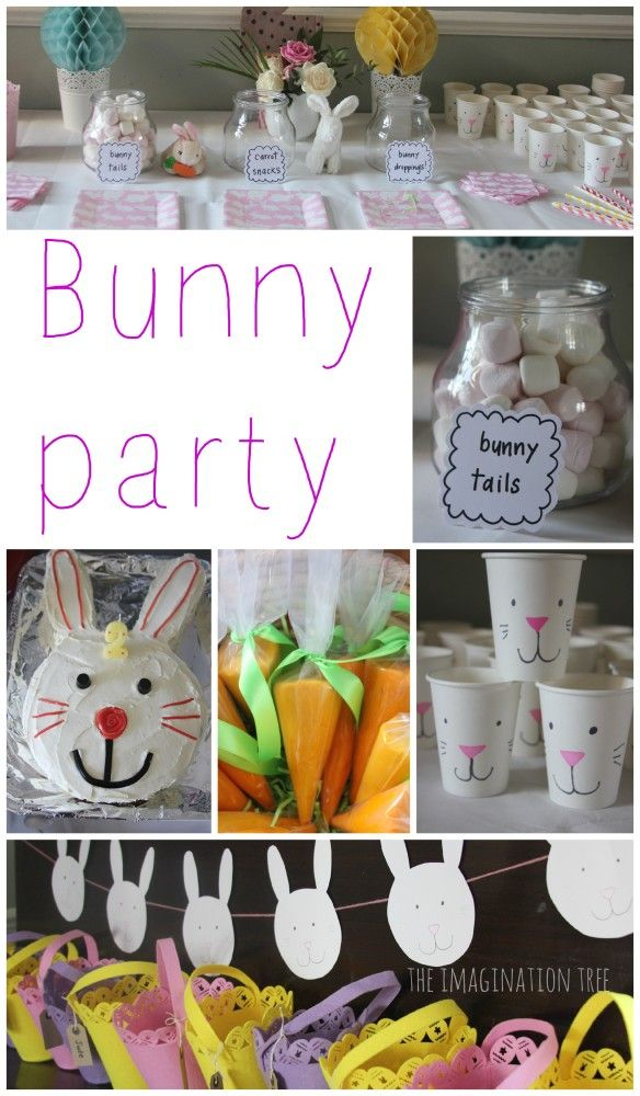 Gorgeous bunny birthday party for kids