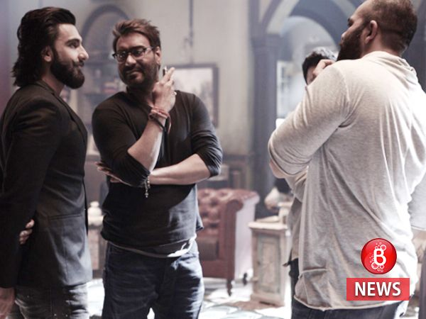 What was Ranveer Singh doing on the sets of Ajay Devgn and Rohit Shetty's 'Golmaal Again'?