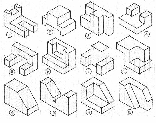 13 best Isometric Drawings Exercise images on Pinterest