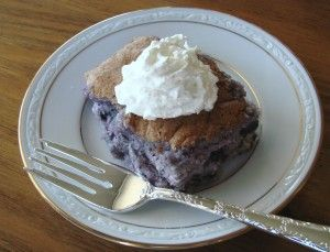 Blueberry Angel Food Cake Dessert. weight watchers recipe....I just made mine with cherry pie filling and it is DELICIOUS!!! And only 2 weight watchers points. Seriously the easiest dessert ever....mix a box of angel food cake mix with the pie filling...that is it :) You can also use one can of crushed pineapples.....juice and all with one box od Angle food cake mix.....yummy