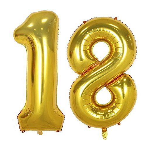 Partigos 40inch Gold 18th Number balloon for Birthday Party Festival Decorations Jumbo foil helium balloons party supplies use them as Props for Photos (40inch gold number 18) - https://partysuppliesanddecorations.com/partigos-40inch-gold-18th-number-balloon-for-birthday-party-festival-decorations-jumbo-foil-helium-balloons-party-supplies-use-them-as-props-for-photos-40inch-gold-number-18.html