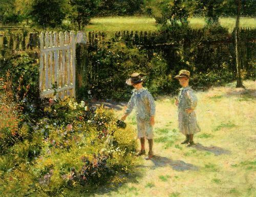 'Children in the Garden' - Wladyslaw Podkowinski.