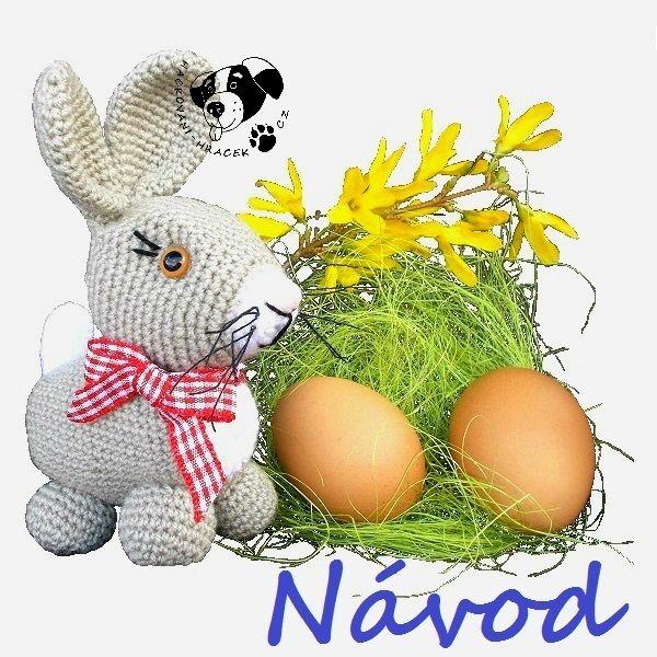 Zajíček Ušáček - návod na háčkování ______________#zajíc#zajíček#králík#velikonoce#velikonoční#hračka#návod#háčkovaný#PDF#crochet#hare#rabbit#pattern