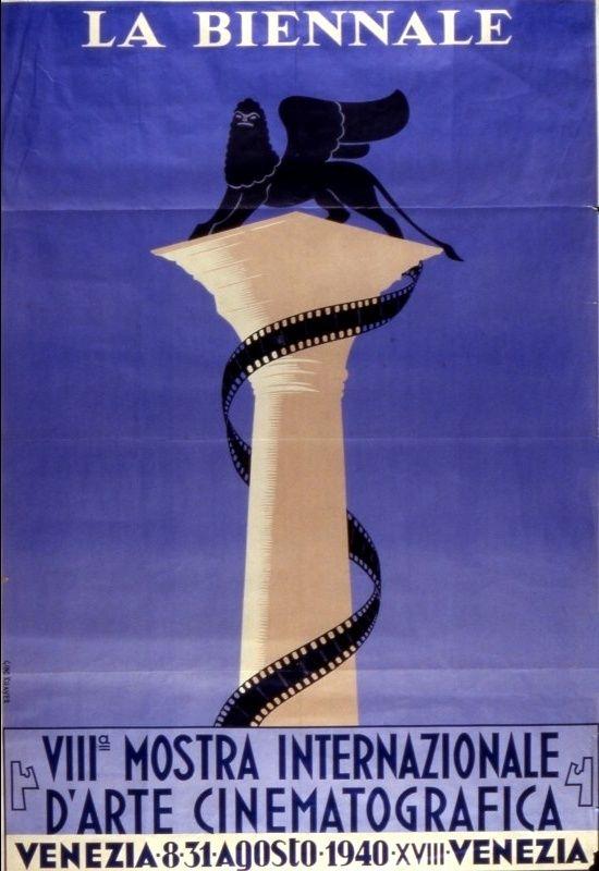"Official artwork for the 8th edition of Mostra Internazionale d'Arte Cinematografica alla Biennale di Venezia (Venice Film Festival) in 1940. This edition was also called ""Settimana Cinematografica italo-germanica"" (""Italian-German Cinematographic Week"") and it is considered void."
