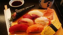 """Sushi   -it really rubs me the wrong way when I hear people say """"I love sushi, as long as there isn't any fish in it""""  I want to say """"well you should try the GaijinRoll"""""""
