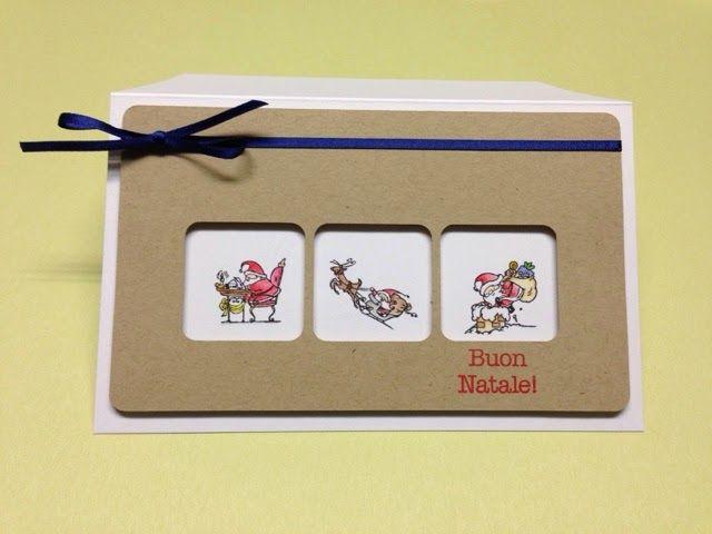Card Natalizia. Free file Silhouette Cameo. Timbri Impronte d'Autore.
