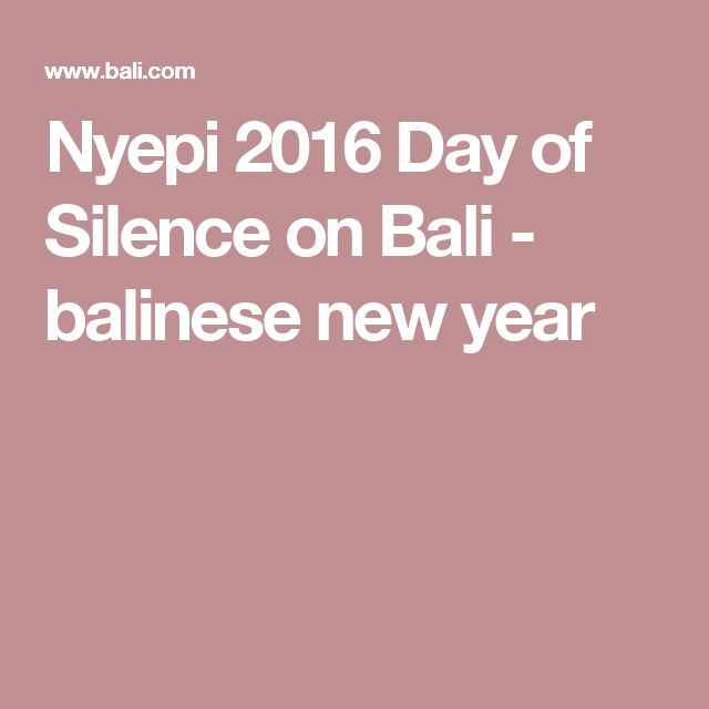 Nyepi 2016 Day of Silence on Bali - balinese new year