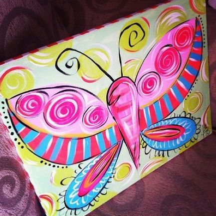 fun butterfly rose n vine kids party ideas - Kids Pictures To Paint