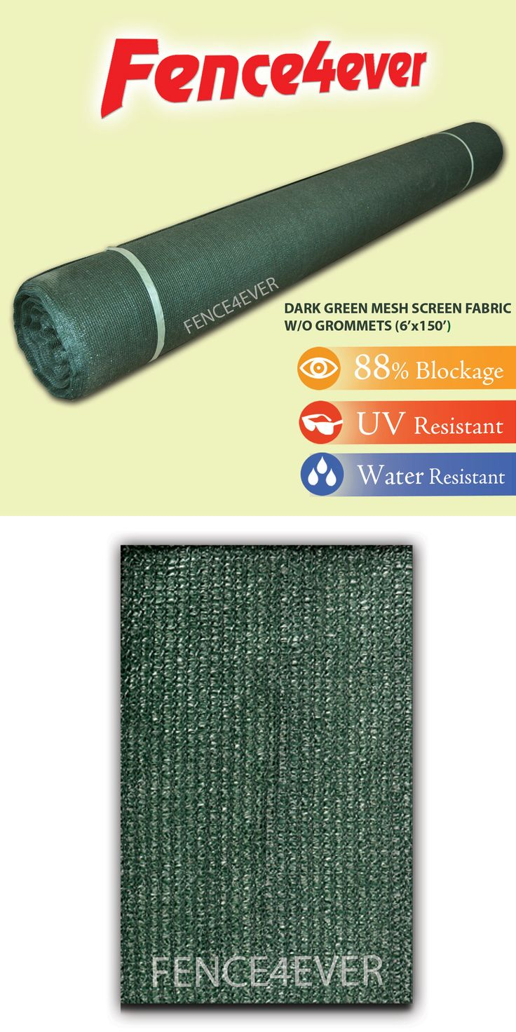 Privacy screen for chain link fence ebay - Privacy Screens Windscreens 180991 6 X150 Green Shade Cloth Fabric Fence Windscreen Privacy Screen Cover