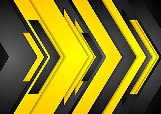 Black Yellow Geometric Vector Background In 2020 Textured