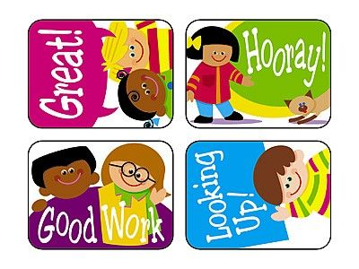 TREND's Cartoon Kids Applause reward stickers contain motivating messages and vibrant designs that make it easy to inspire children of all ages Acid-free, non-toxic, and safe for use on photos.