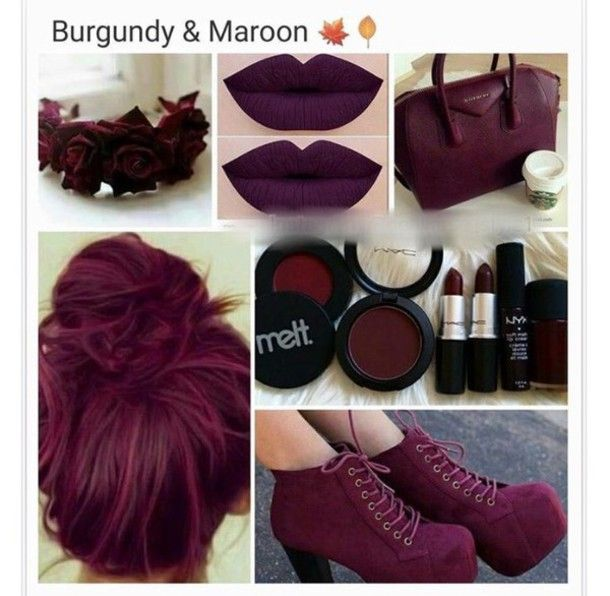 Burgundy Maroon Matt lips and nails! The HOTTEST trend <3 Check now!