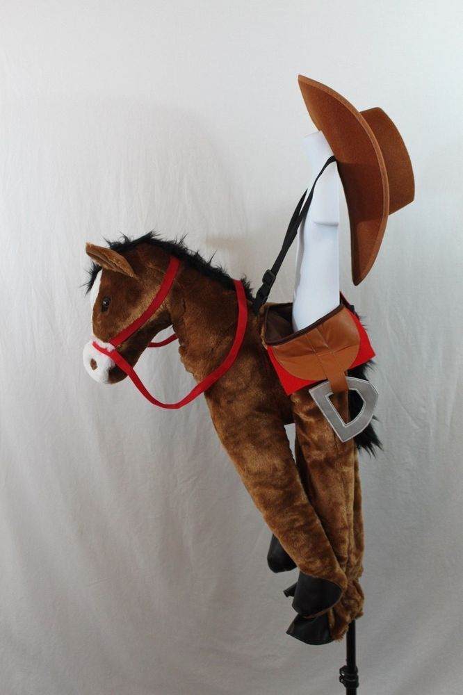 Horse Cowboy Girl Boy Halloween Full Costume Toddler Cowgirl Plush Hat NEW…