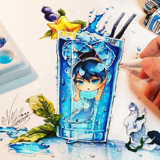 Haru The Deep Blue #haruka #harukananase #nanase #cute #kawaii #chibi #naschi #nashi