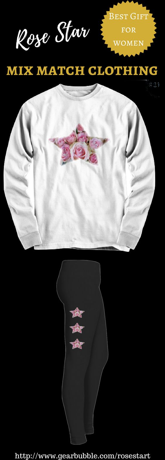 Are you looking for a 'one of a kind' unique design sweatshirt/t shirt/hoodie and matching leggings gift for her ? If so visit : http://www.gearbubble.com/rosestart #yoga #yogainspiration #fashion #style #gifts #christmasgifts #love