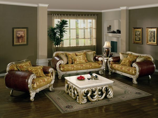 The Rue De Navarre Gold Floral Sofa Set Living Room Furniture Pinterest