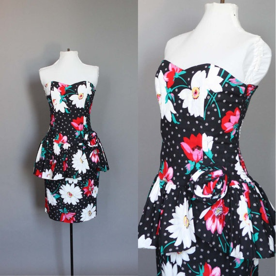 Dress 80s 50s Vintage 1980s does 1950s by persnicketyvintage, $44.00