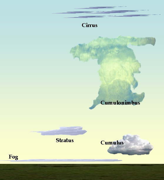 These Are The Types Of Clouds That I Know Of The Cirrus Cloud At The Top And The Fog Clouds At The Top Sixth Grade Science Science Journal Earth Science