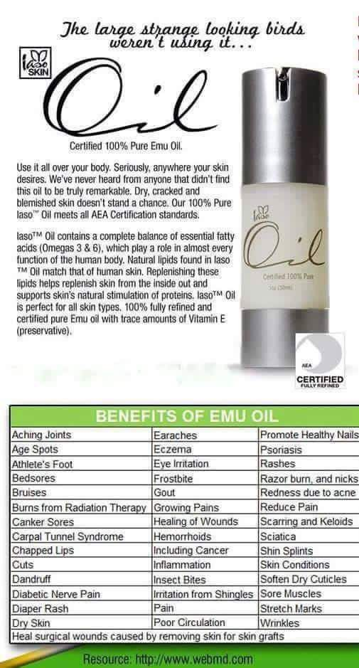 Emu oil Ask how  t