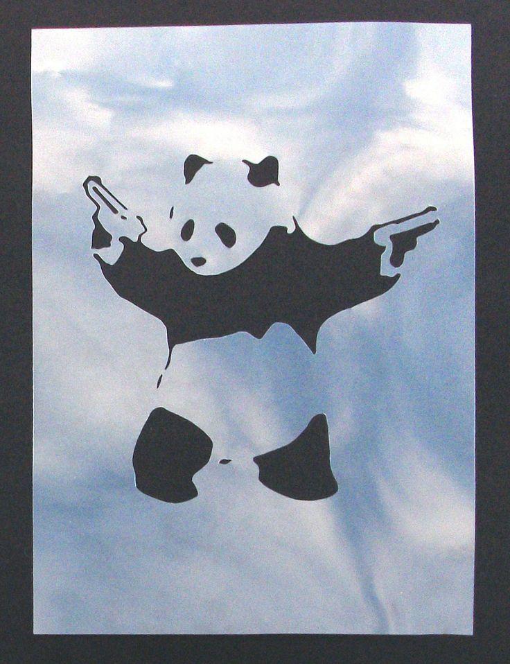 Panda - Banksy stencils