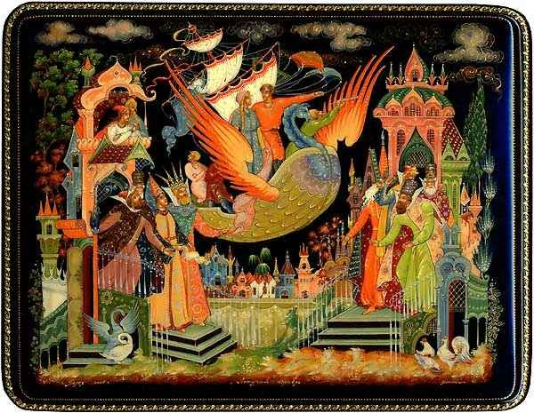 dobrynya & the dragon -dmitry bonokin palekh