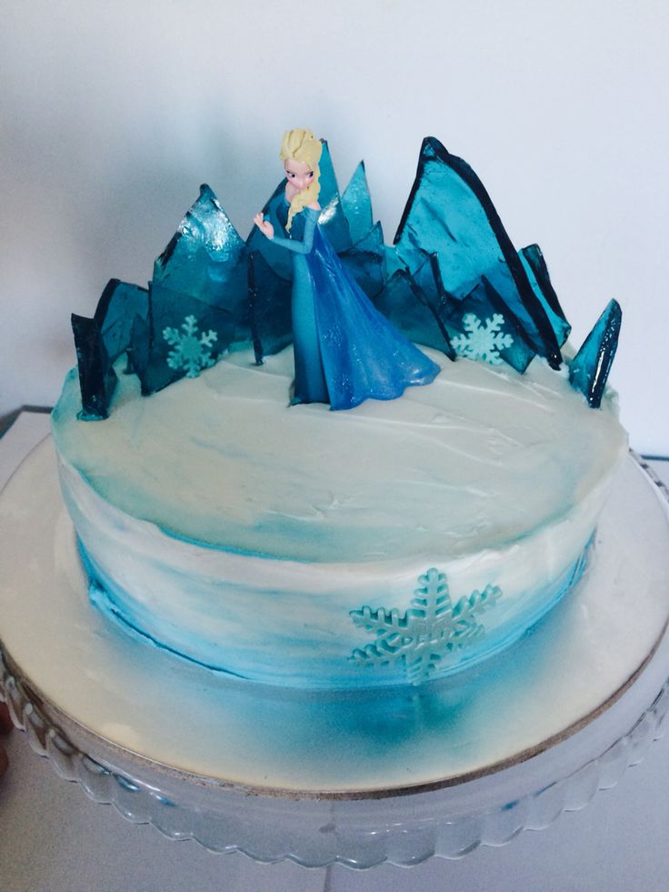 Frozen cake Elsa ice palace                              …
