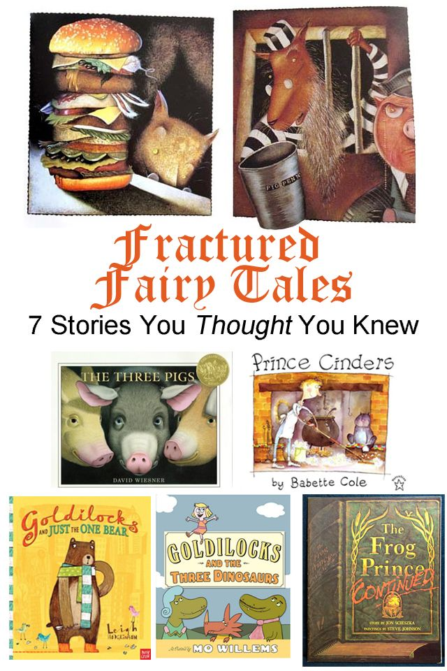 FREE LIST of Fractured Fairy Tales~ Kids love these classic fairy tales with a twist. They are stories that spin off the well-known versions of classic fairy tales, and they are usually extremely clever and fun. Great for reading them to elementary student so they can compare/contrast the similarities and differences between the stories they already know, and the ones we read together.