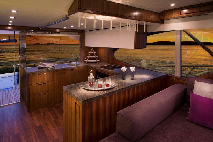 Riviera 77 Enclosed Flybridge Galley