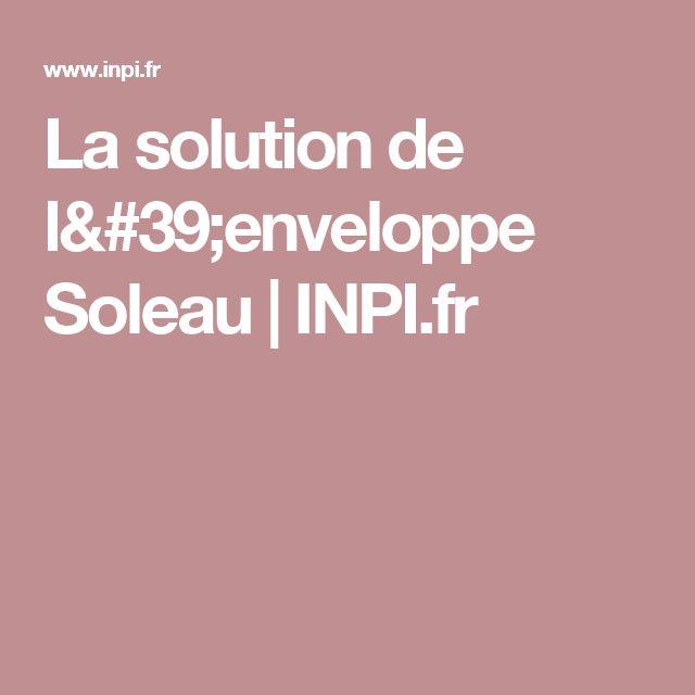 La solution de l'enveloppe Soleau | INPI.fr