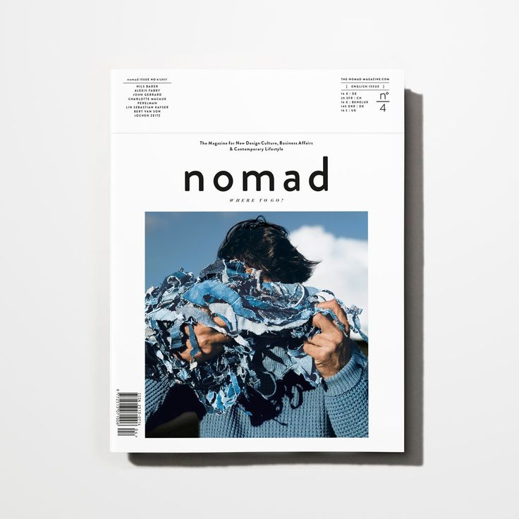 Out now! We are proud to present you our fourth issue. The latest issue deals with the subject of sustainability. We have contributed people who have deliberately chosen a different path. You will find creative forward-thinking pioneers visionary start-up specialists and far-sighted entrepreneurs such as John Gerrard Jochen Zeitz Nils Bader and Lin Sebastian Kayser.  Welcome to the global creative community.  Welcome to nomad.  Get a copy! Available on our website and special bookshops…