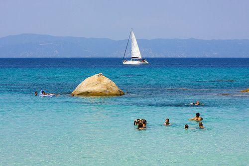 Ακτή Πορτοκάλι (Καβουρότρυπες) Orange Beach ,Chalkidiki
