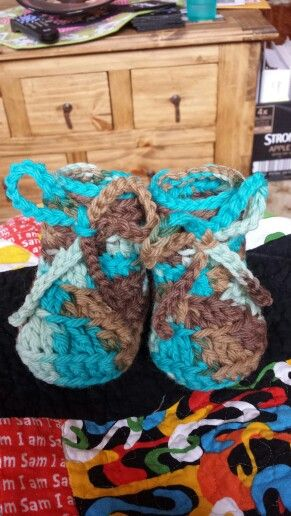 First try crocheting baby booties!