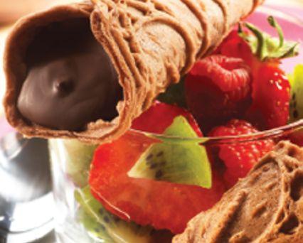 Bricelets bernois au chocolat Recette -