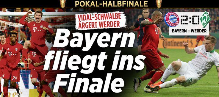 2:0 thx to astro #snake #Mueller final game! Aufstellungen Bayern gegen Werder sind da | Ribéry spielt trotz Trainings-Tritt http://sportdaten.bild.de/sportdaten/uebersicht/sp1/fussball/co33/dfb-pokal/#sp1,co33,se18517,ro57639,md0,gm0,ma2410473,pe0,to0,te0,ho209,aw2134,rl0,na4,nb2,nc1,nd1,ne1,jt0, http://www.bild.de/sport/fussball/dfb-pokal/bayern-bremen-halbfinale-45452104.bild.html