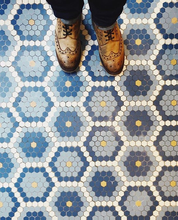 """11k Likes, 24 Comments - I Have This Thing With Floors (@ihavethisthingwithfloors) on Instagram: """"Blue Hexagon Tiles. Photo by @theboywhobakes #paris #blue #tiles #ihavethisthingwithfloors…"""""""