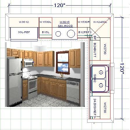 Standard 10x10 Kitchen | All Wood Kitchen Cabinets Paprika Maple Custom  Designs. Square Kitchen LayoutKitchen ...