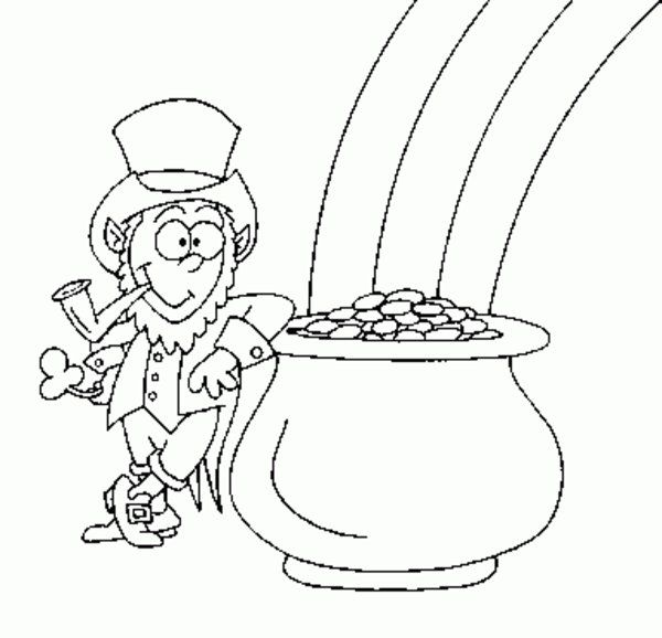 Saint Patrick's Day Coloring Pages  – pot of gold