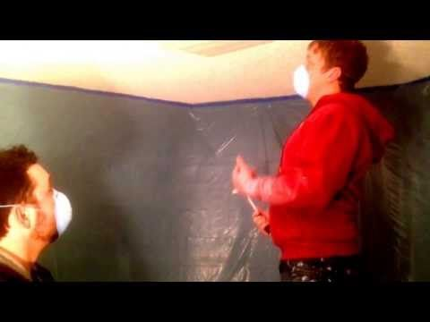 Removing a Popcorn Ceiling doesn't have to be difficult. - YouTube