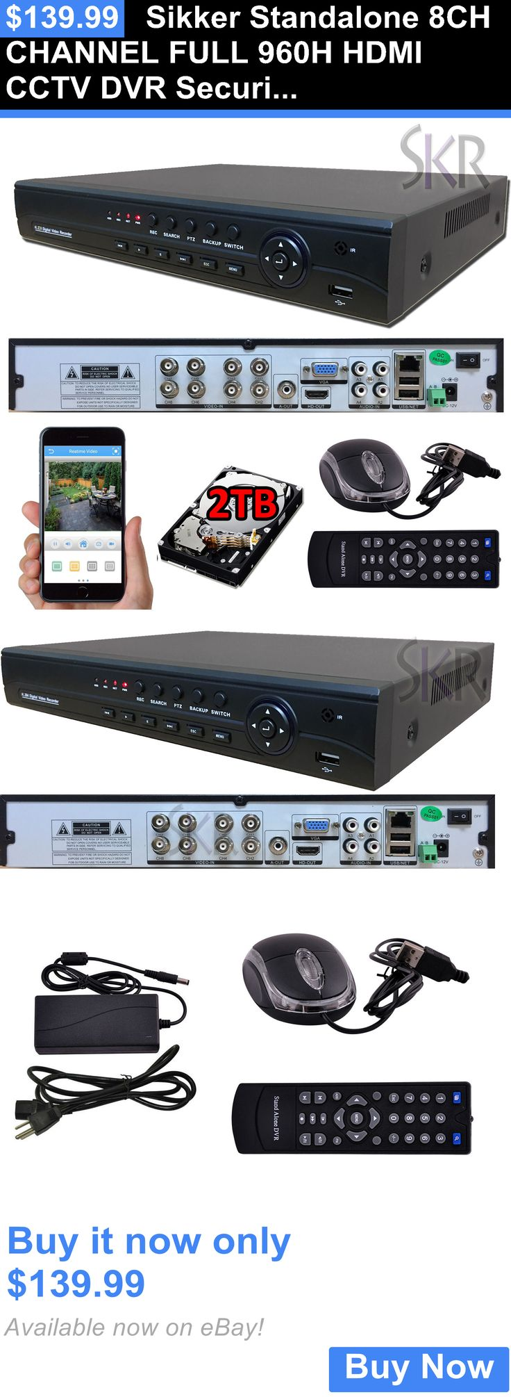 Digital Video Recorders Cards: Sikker Standalone 8Ch Channel Full 960H Hdmi Cctv Dvr Security Camera System 2Tb BUY IT NOW ONLY: $139.99