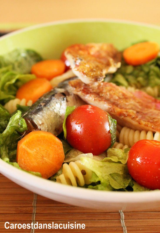 Salade-aux-rougets,-sardines-et-tomates