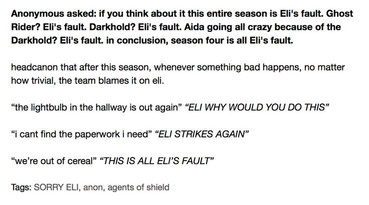 Agents of SHIELD, Season 4, Eli, the Darkhold