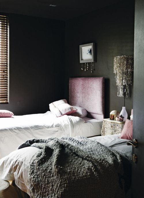 23 best images about fabulous charcoal walls on pinterest - Dark gray bedroom walls ...