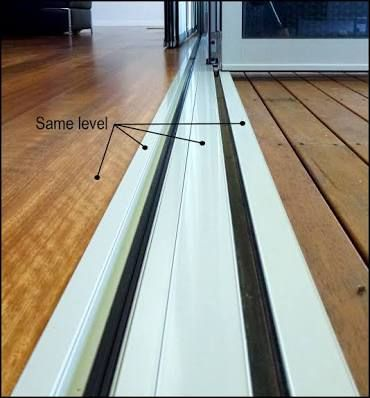 Image result for stacker door with recessed sill