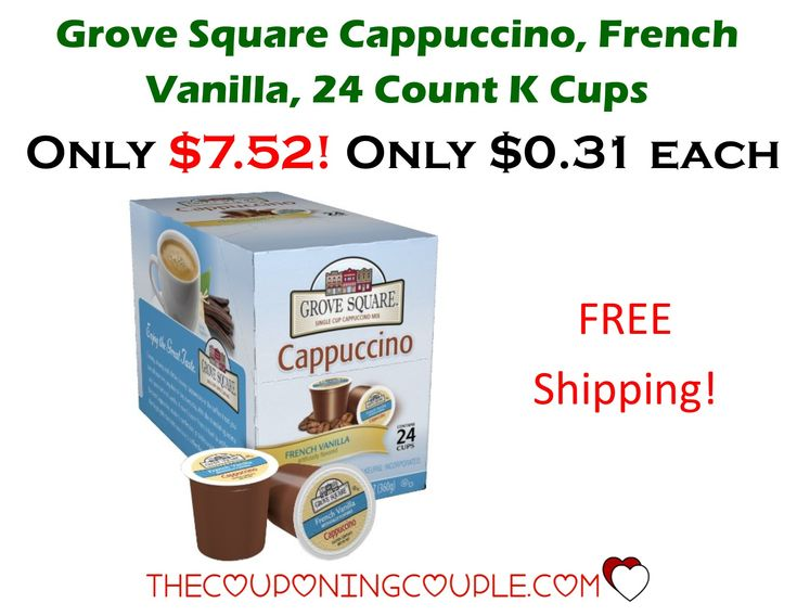 HOT BUY! Get Grove Square French Vanilla Cappuccino K Cups for only $0.31 each shipped! A definite stock up price!  Click the link below to get all of the details ► http://www.thecouponingcouple.com/grove-square-french-vanilla-cappuccino-k-cups-only-0-31-each-shipped/ #Coupons #Couponing #CouponCommunity  Visit us at http://www.thecouponingcouple.com for more great posts!
